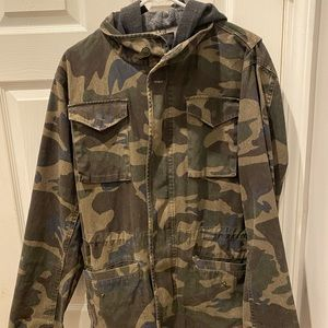 Tilly's RSQ camouflage light jacket.